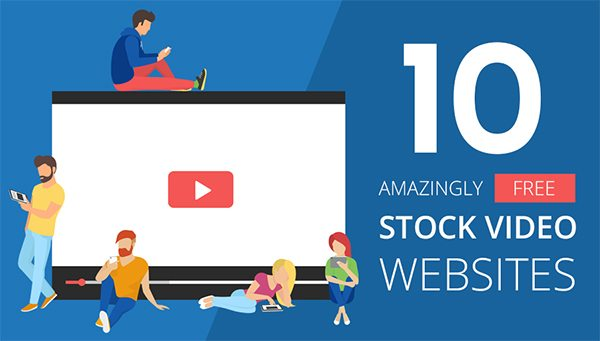 10 Free Stock Video Websites - Infographic
