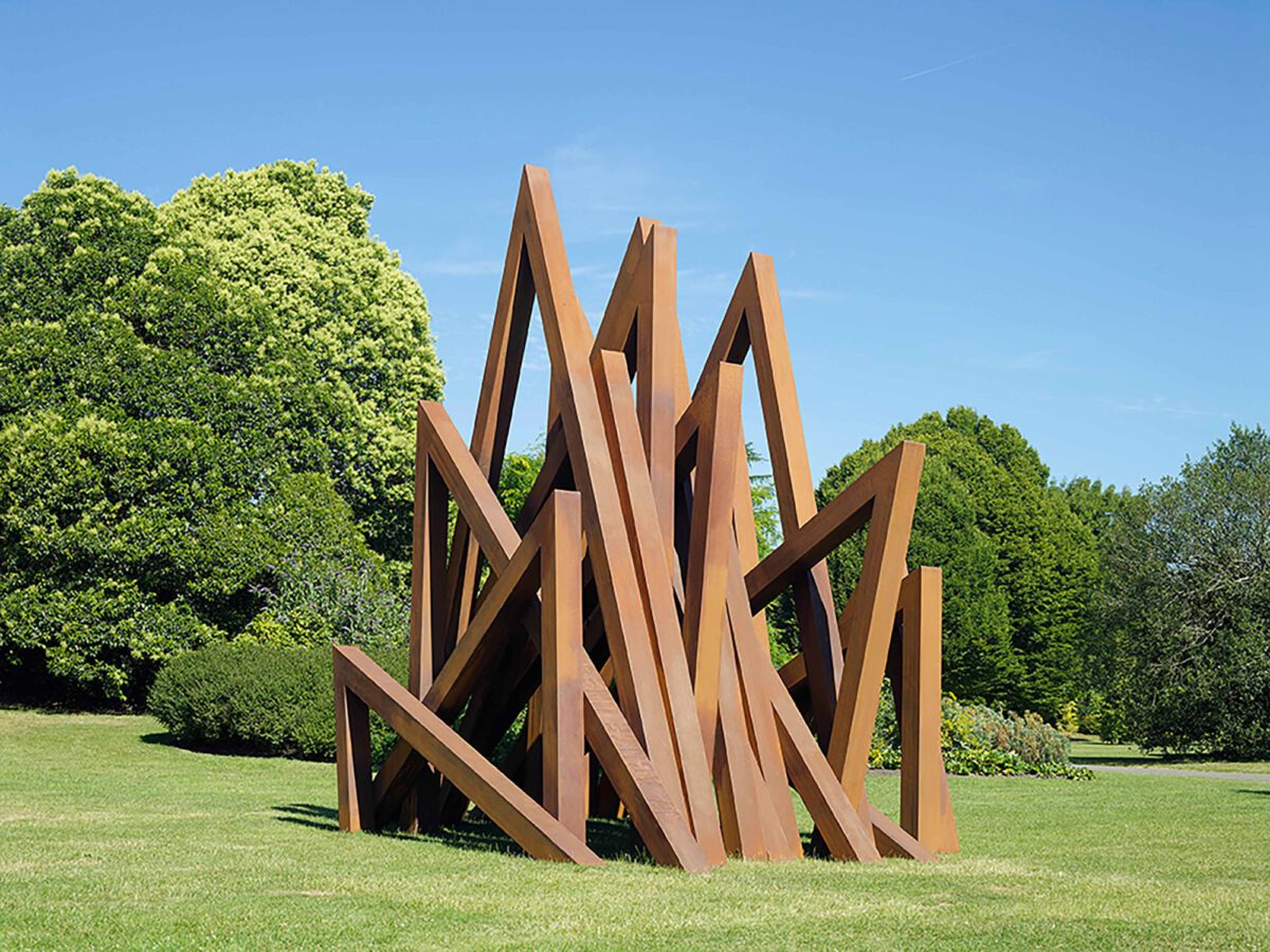 Bernar Venet 17 Acute Unequal Angles 2016 Courtesy Bernar Venet Archives Ny And Blain Southern Photo Peter Mallet 2