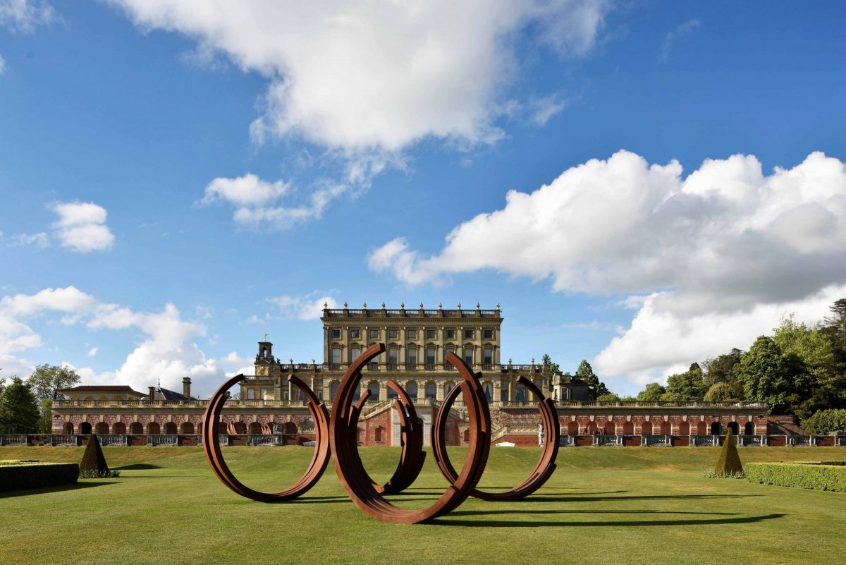 Bernar Venet At Cliveden Installation View 2017 Courtesy Archives Bernar Venet New York And Blain Southern Photo Jonty Wilde