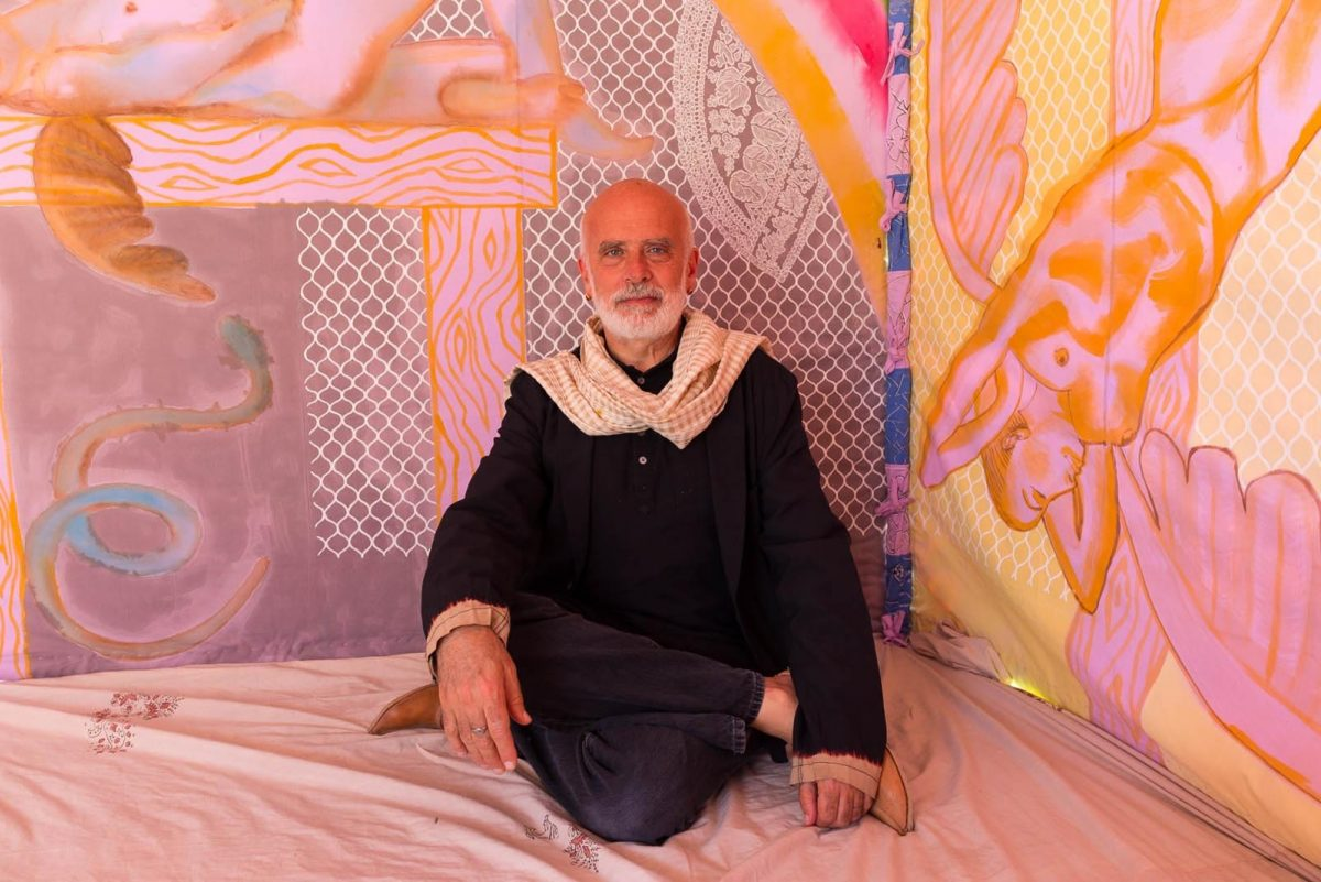 Francesco Clemente Portrait By Neil Greentree
