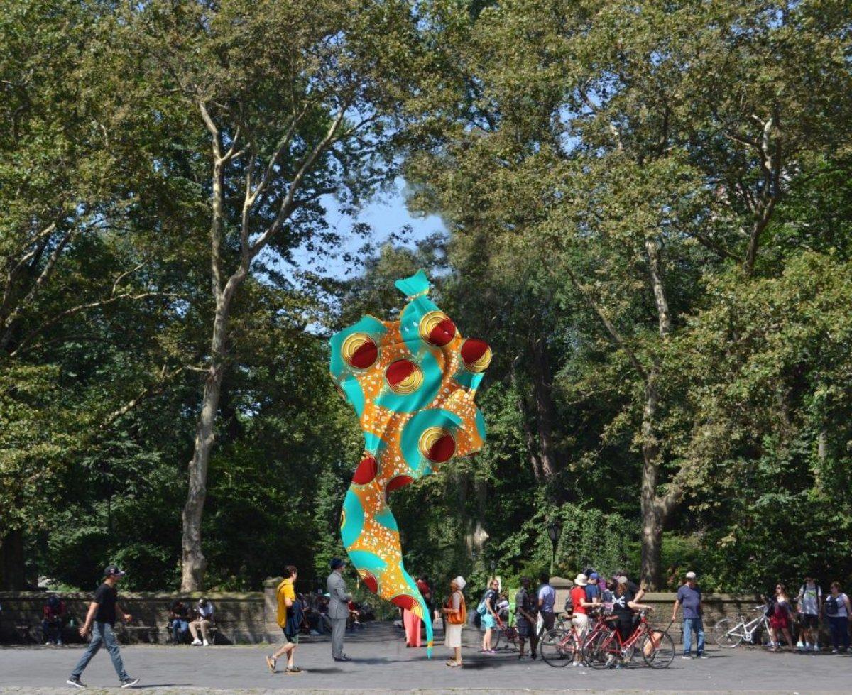 Yinka Shonibare MBE, Wind Sculpture (SG) I, rendering