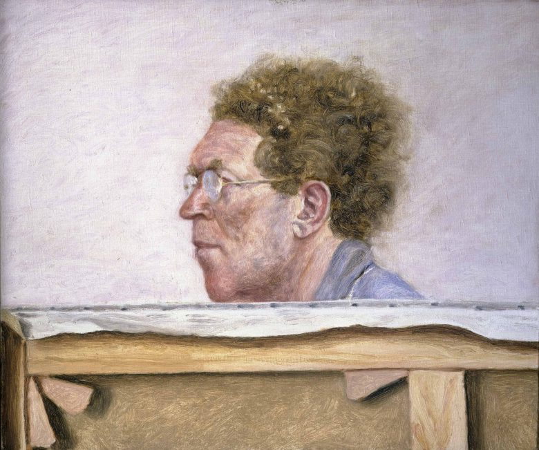 Arikha Avigdor Canvas With Self Portrait 1976 B77 0620