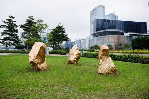 Bosco Sodi at Harbour Arts Sculpture Park, Hong Kong