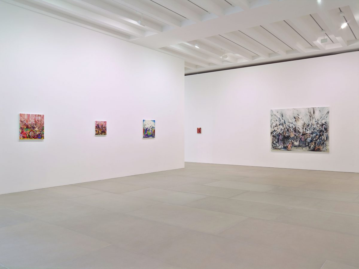 Ali Banisadr At Once 2015 Installation View Courtesy The Artist And Blain Southern Photo Peter Mallet 2
