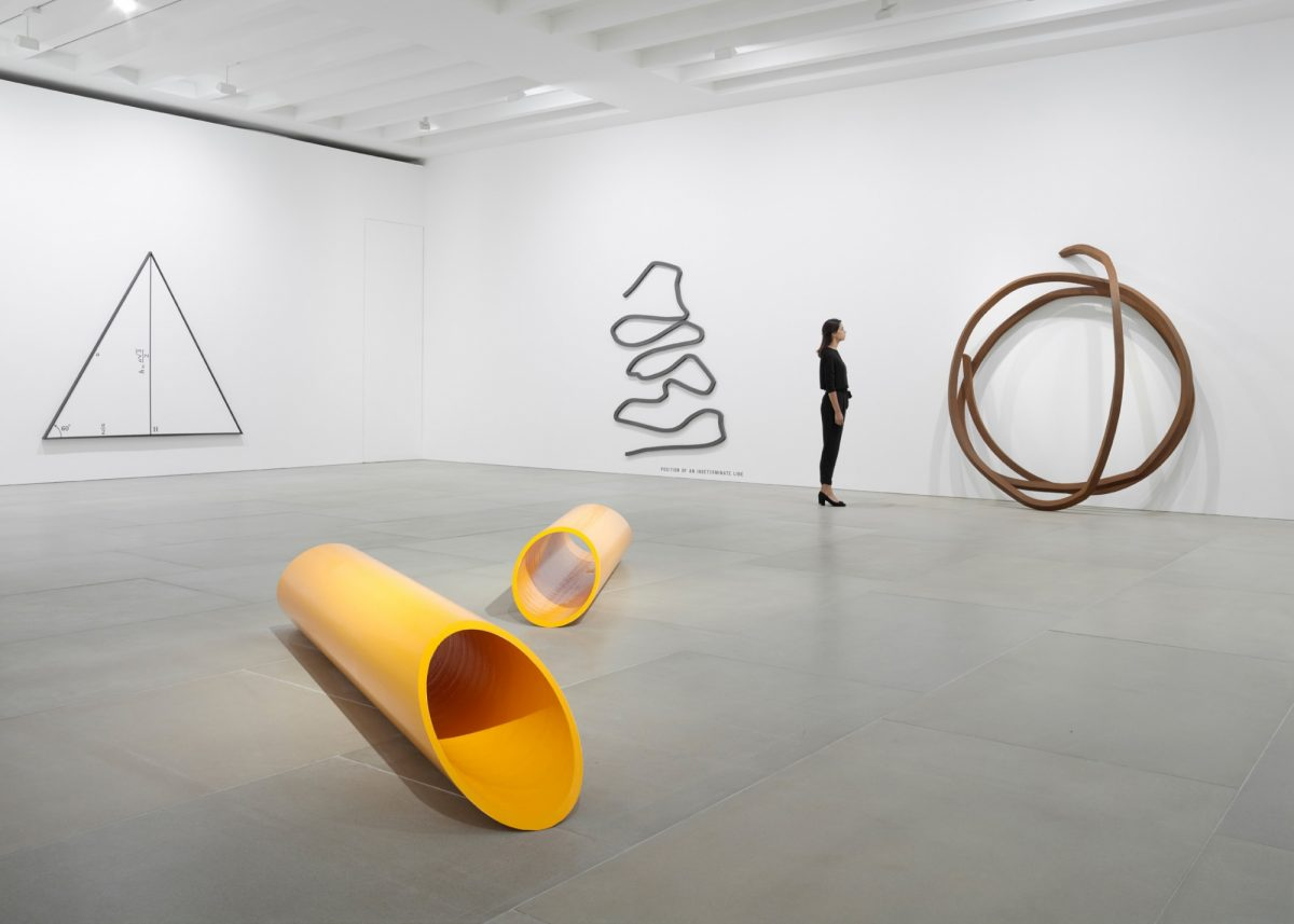 Bernar Venet, Looking Forward 1961-1984, Installation view, Courtesy the artist and Blain|Southern, Photo: Peter Mallet