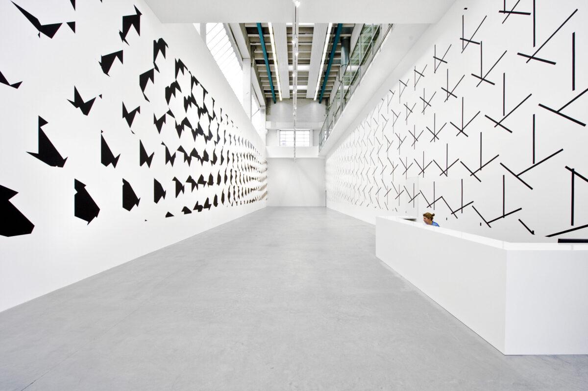 François Morellet Dash Dash Dash 2015 Installation View 1