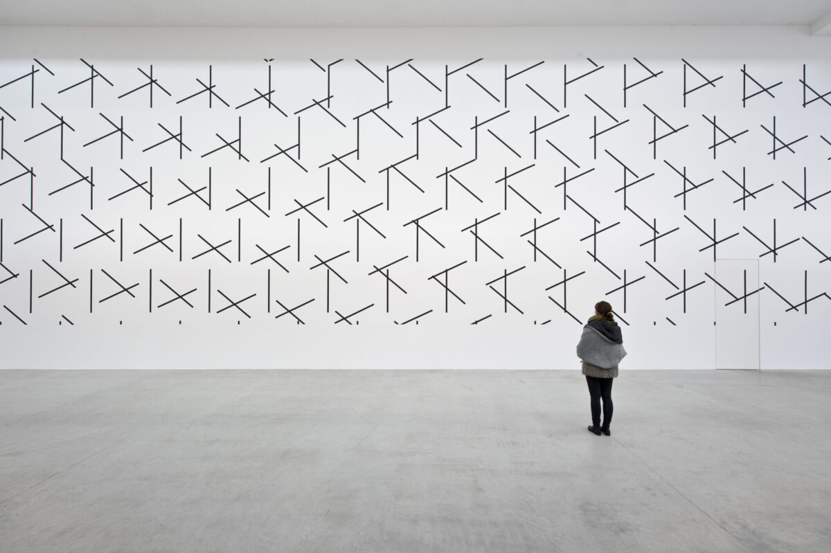 François Morellet Dash Dash Dash 2015 Installation View 2