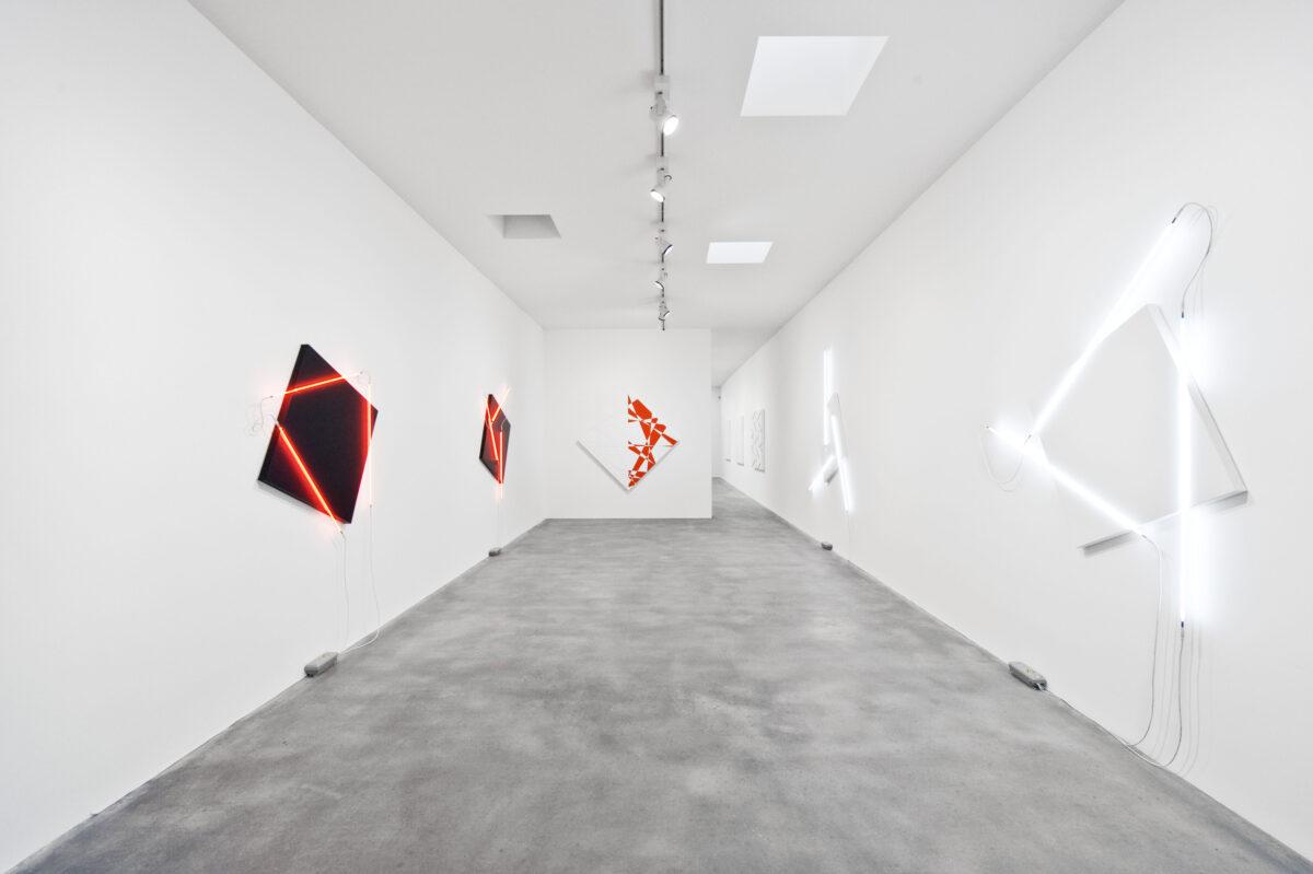 François Morellet Dash Dash Dash 2015 Installation View 6