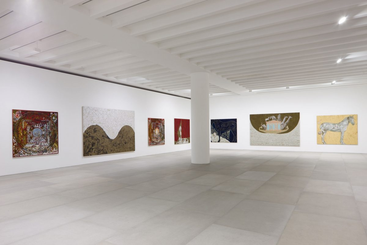 Francesco Clemente Mandala For Crusoe 2012 Installation View Blain Southern Photo Peter Mallet 1