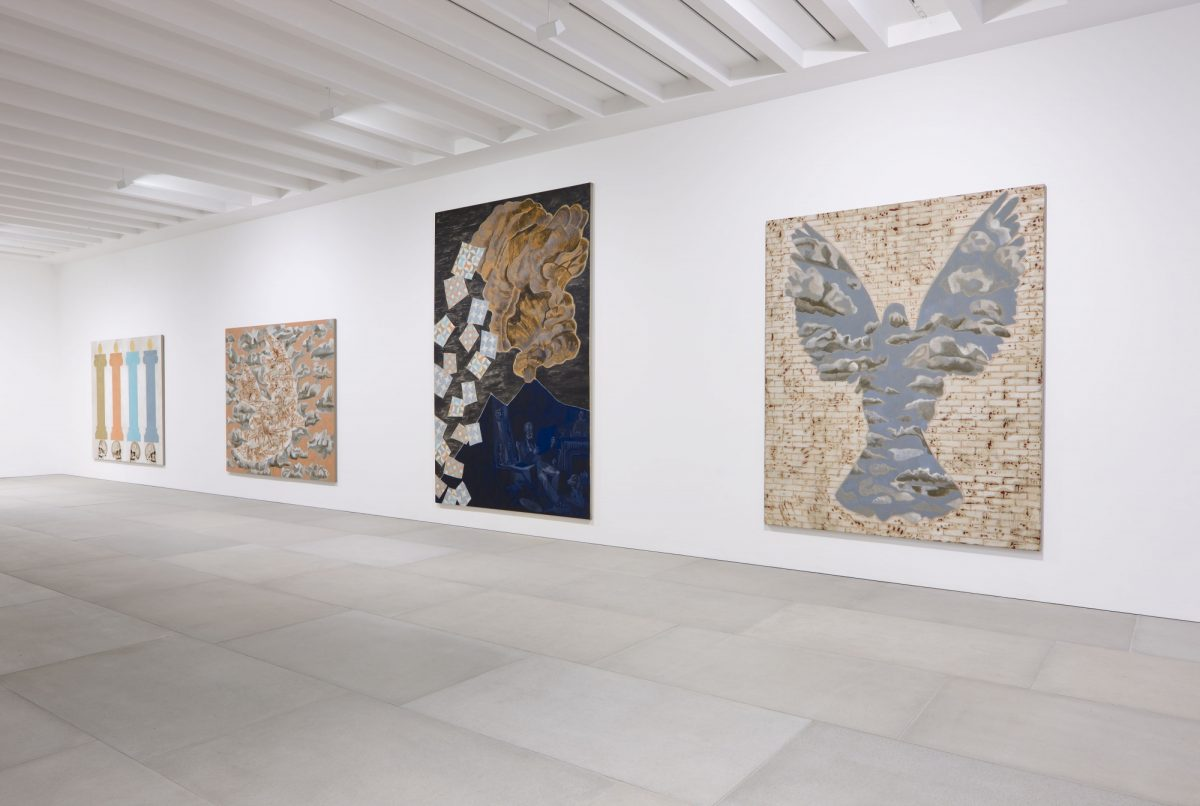 Francesco Clemente Mandala For Crusoe 2012 Installation View Blain Southern Photo Peter Mallet 2
