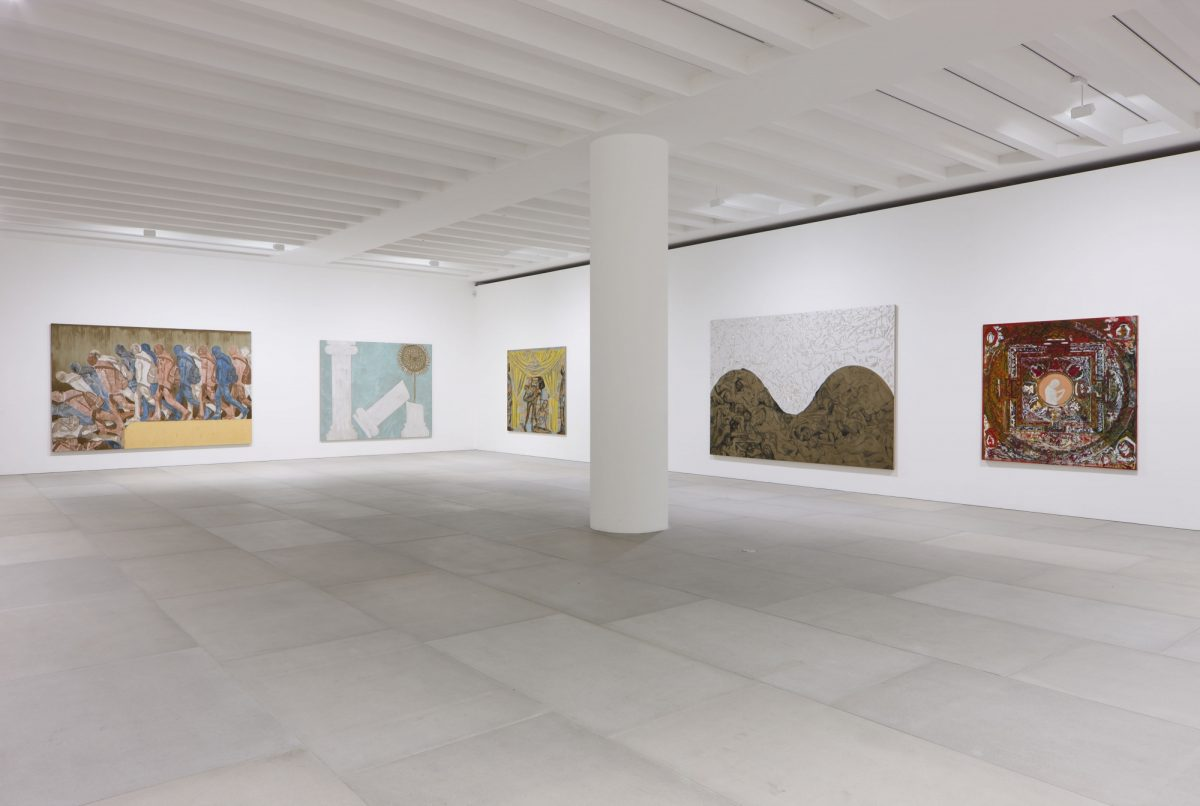 Francesco Clemente Mandala For Crusoe 2012 Installation View Blain Southern Photo Peter Mallet 6