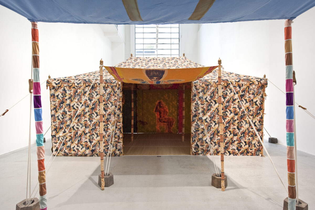 Francesco Clemente Tents 2013 Installation View Blain Southern  Photo Christian Glaeser 3