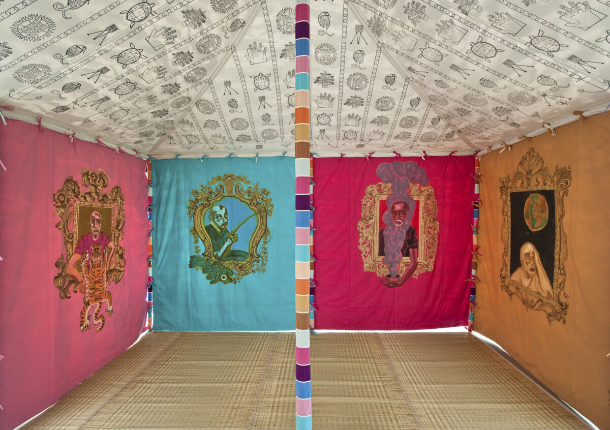 Francesco Clemente Tents 2013 Installation View Blain Southern  Photo Christian Glaeser 6