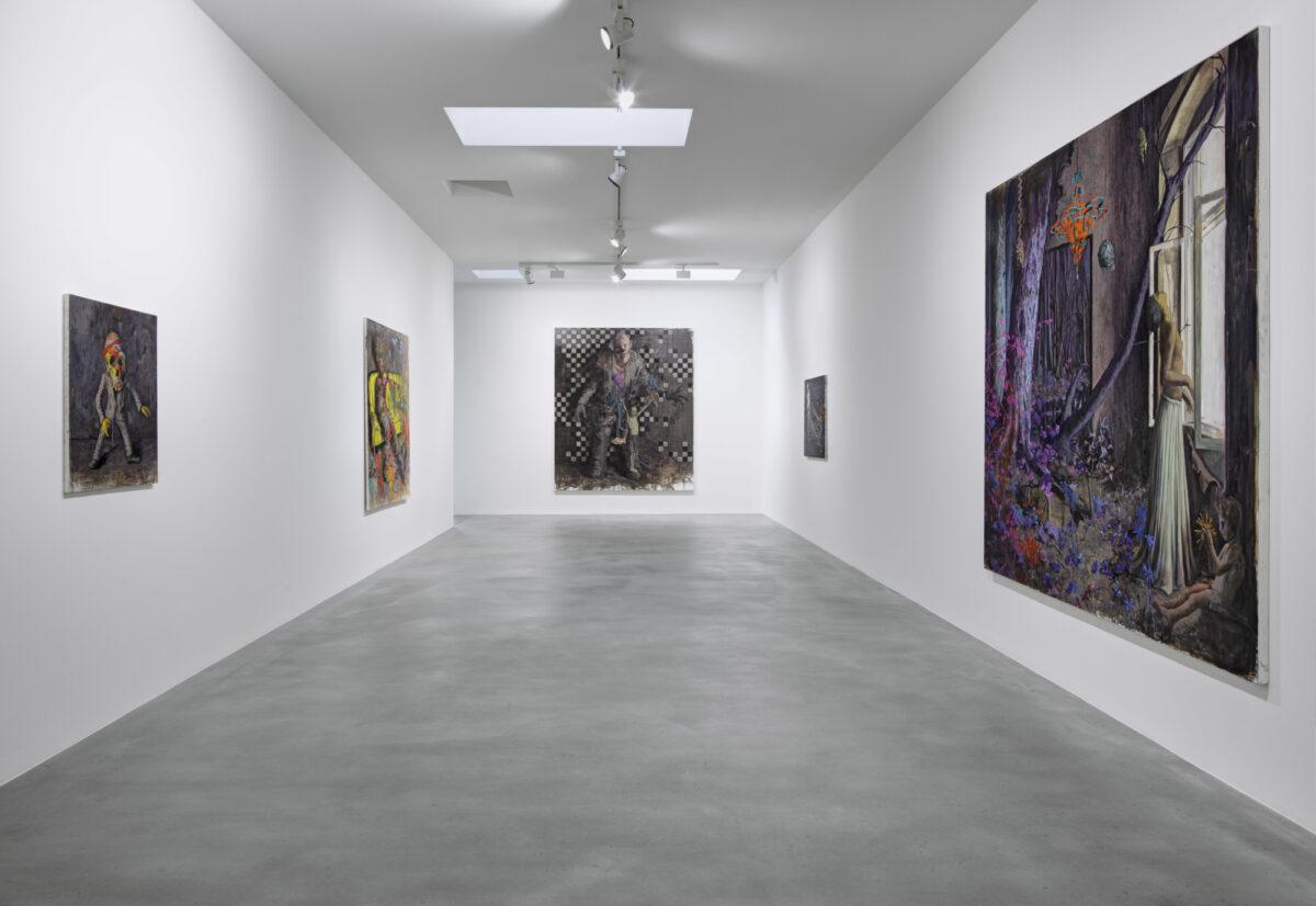 Jonas Burgert, Gift Gegen Zeit, 2012, Installation View, Courtesy the artist and Blain|Southern