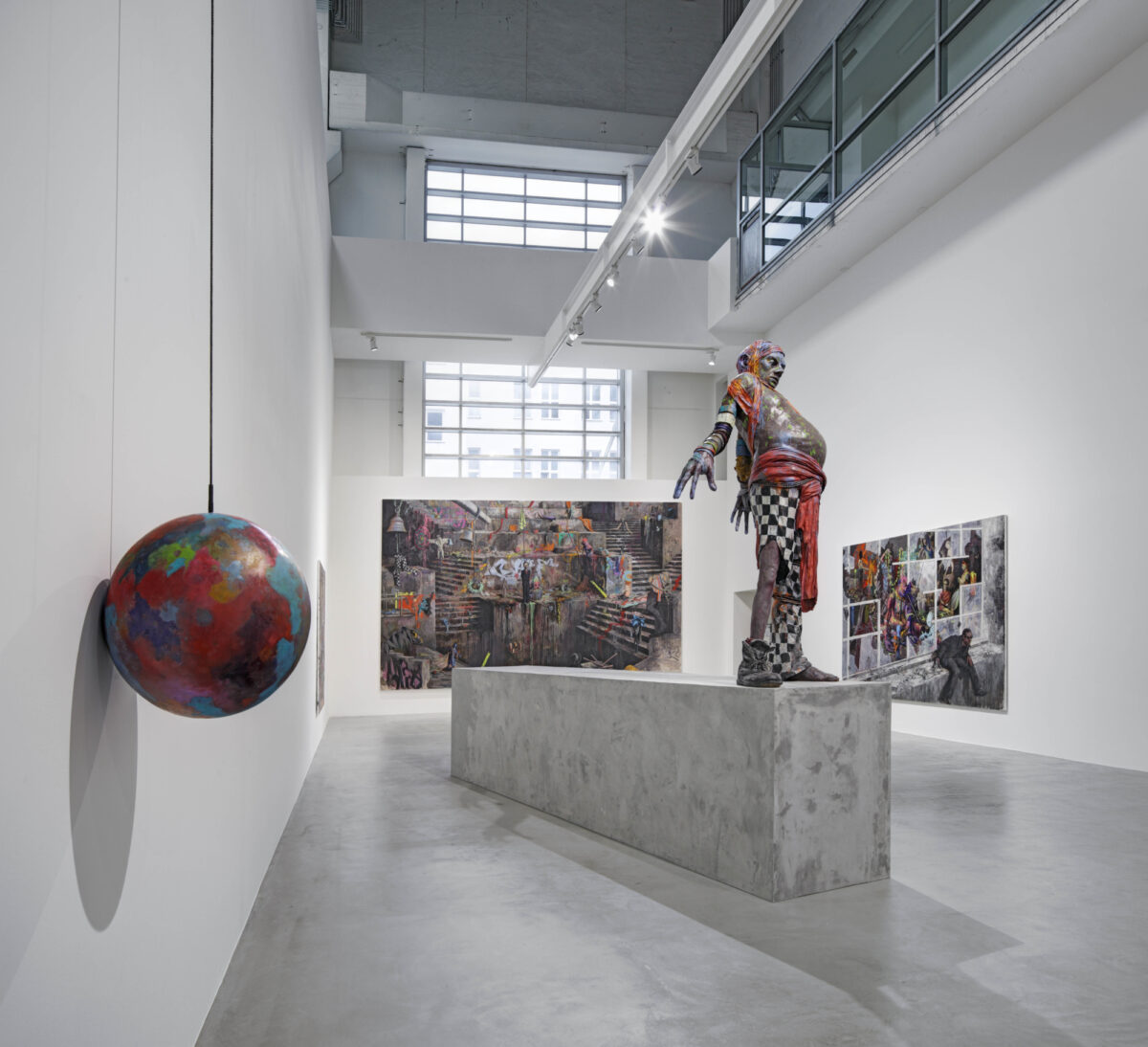 Jonas Burgert, Gift Gegen Zeit, 2012, Installation View, Courtesy the artist and Blain|Southern
