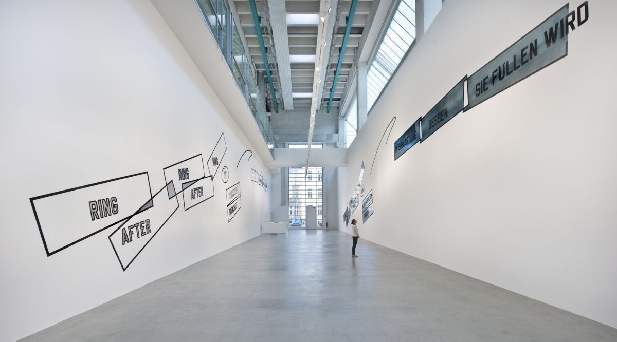 Lawrence Weiner Concentricity Per Se 2012 Installation View Courtesy The Artist And Blain Southern 2