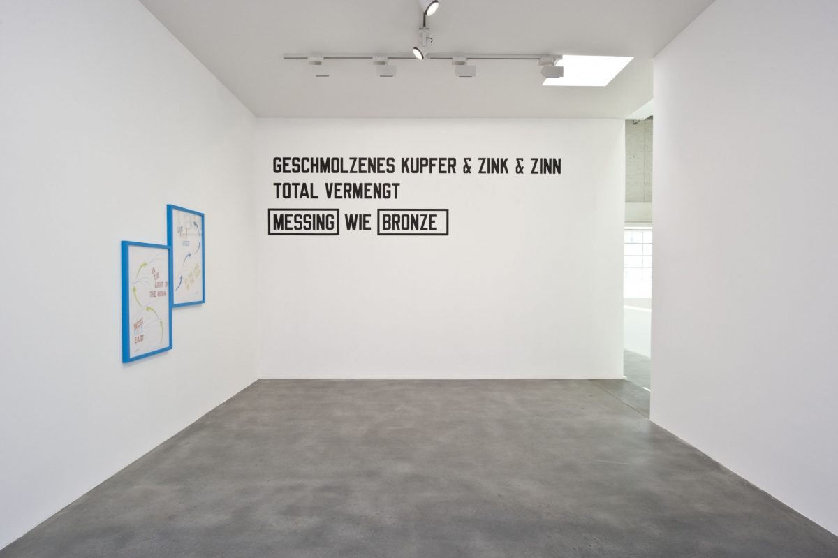 Lawrence Weiner Concentricity Per Se 2012 Installation View Courtesy The Artist And Blain Southern 3