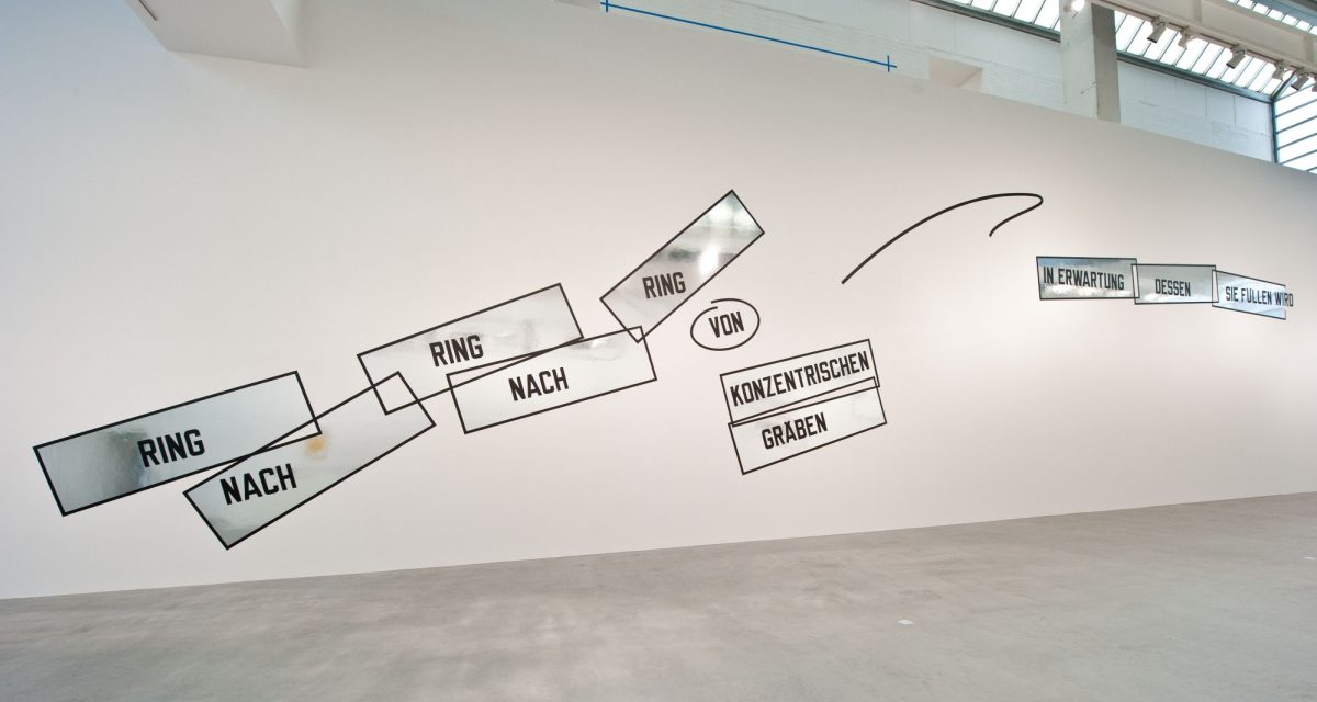 Lawrence Weiner Concentricity Per Se 2012 Installation View Courtesy The Artist And Blain Southern 5