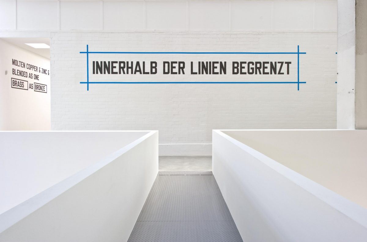 Lawrence Weiner Concentricity Per Se 2012 Installation View Courtesy The Artist And Blain Southern 7