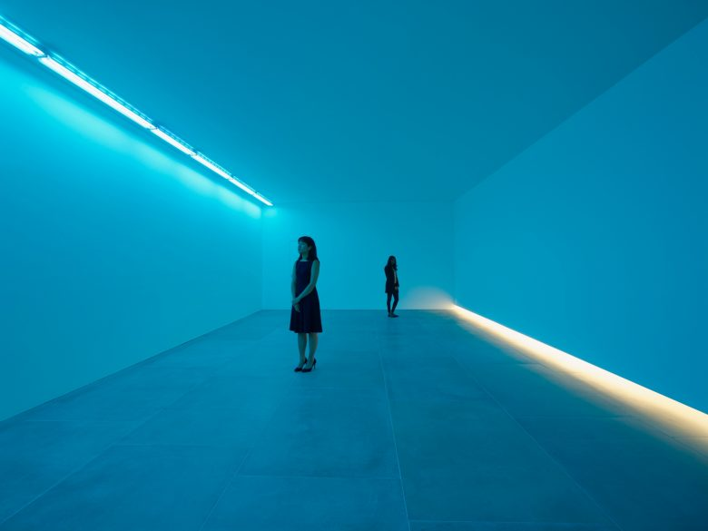 Bruce Nauman Natural Light, Blue Light Room