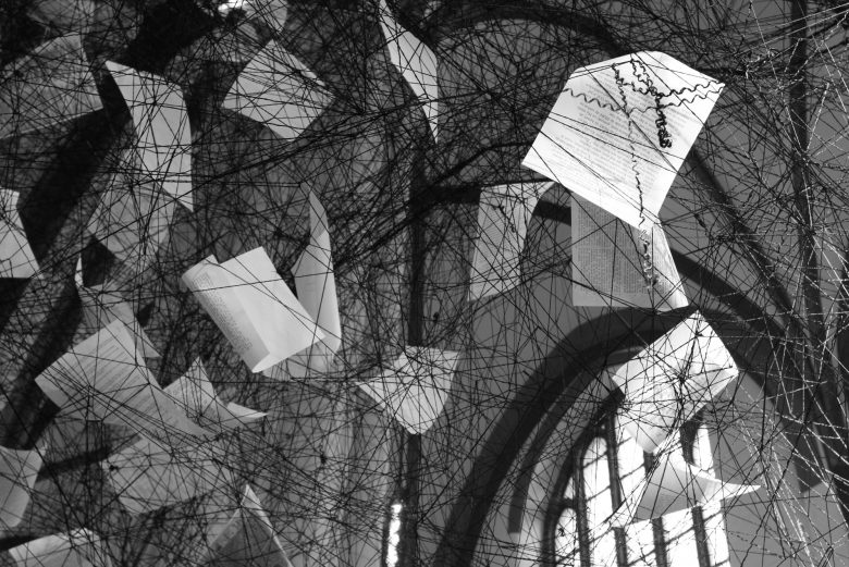 Chiharu Shiota, Lost Words, at Nikolaikirche, Berlin
