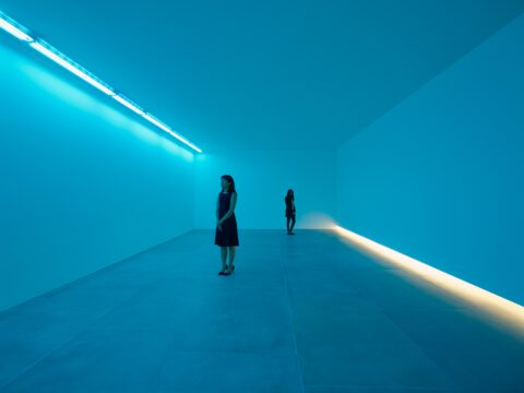 Bruce Nauman <em>Natural Light, Blue Light Room</em>