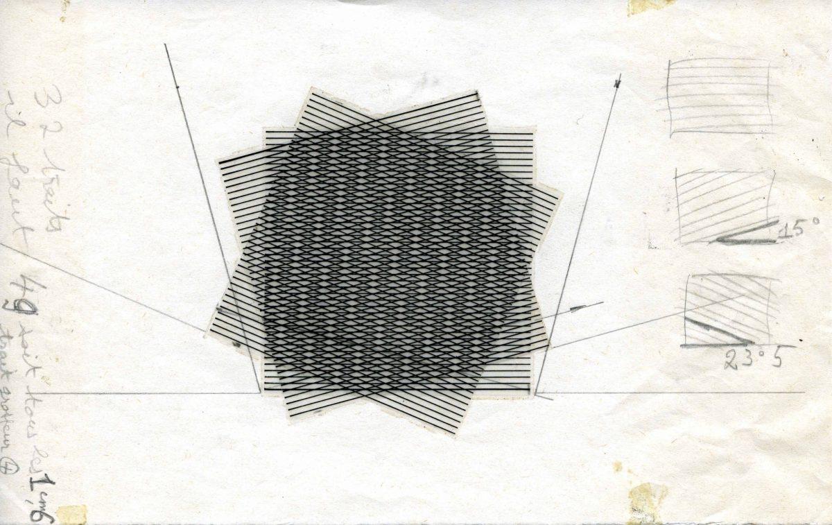 Etude « 3 trames de droites superposées 0°-15°23°5 »