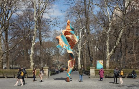 Yinka Shonibare MBE Wind Sculpture (SG) I at Davidson College Gallery