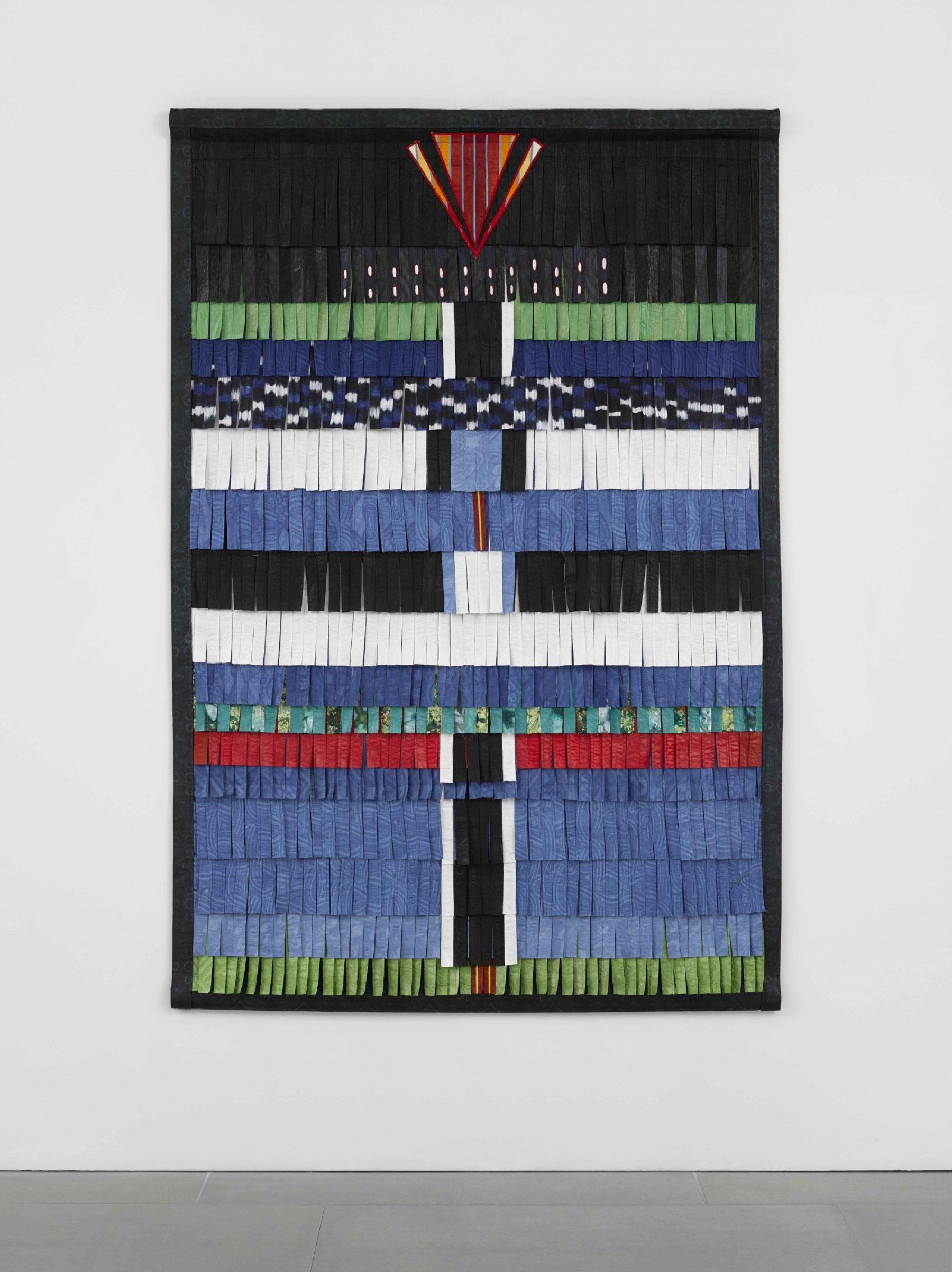 Composition bleue noire et blanc (vert-rouge)