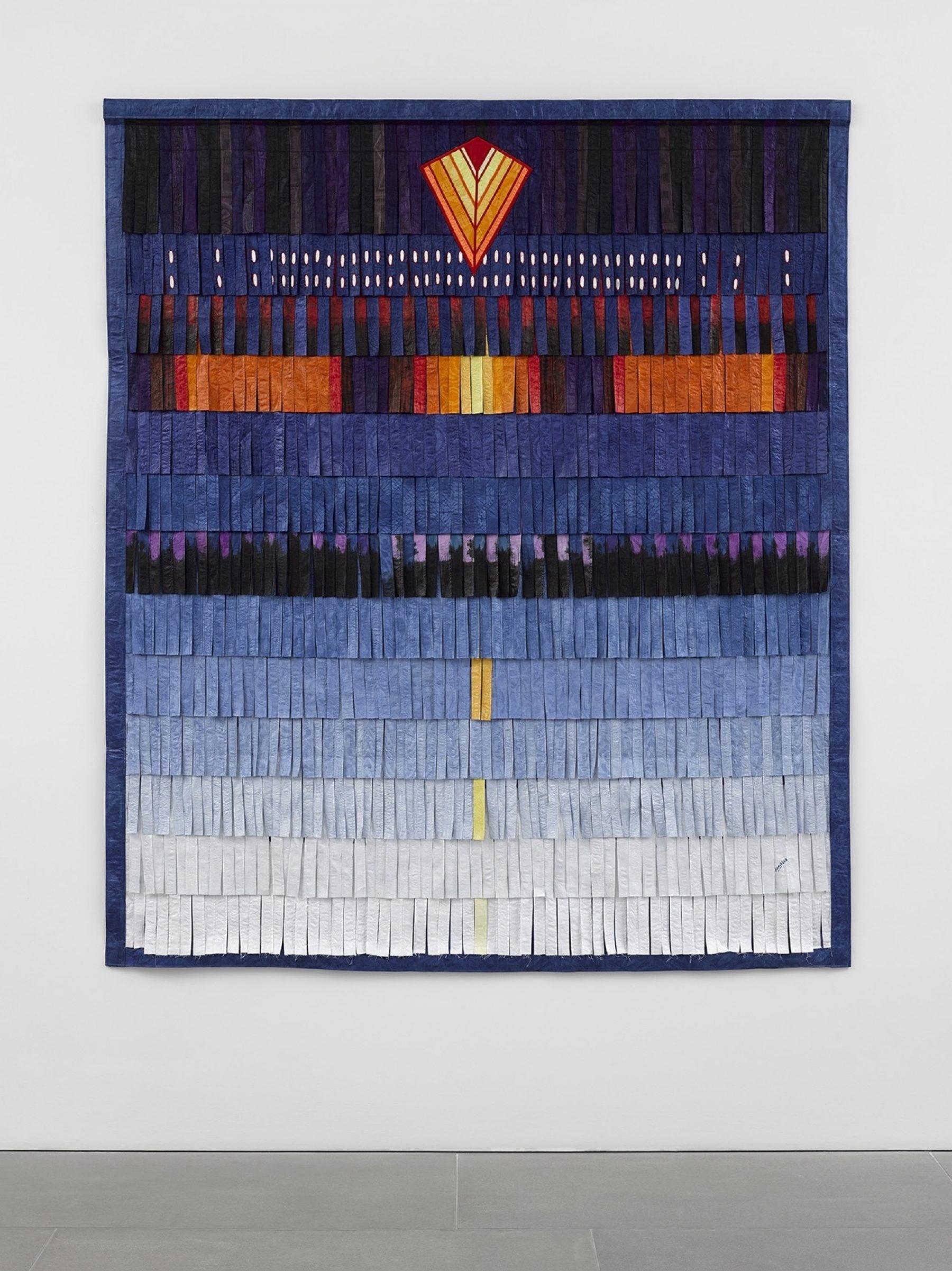 Composition bleue (figure géométrique orange)
