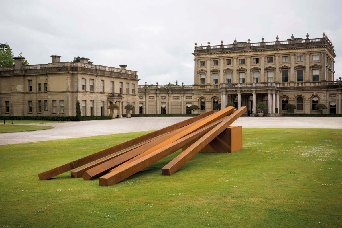 Bernar Venet At Cliveden Installation View 2017 Courtesy Archives Bernar Venet New York And Blain Southern Photo Jonty Wilde 21