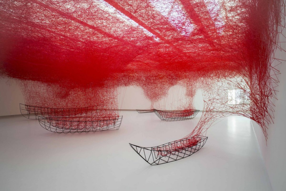 Chiharu Shiota Between The Lines 2017 Installation View Het Noordbrabants Museum Photo Joep Jacobs 2