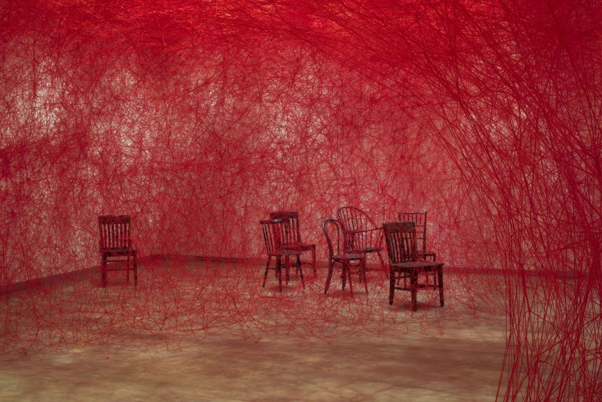 Chiharu Shiota Infinity Lines Installation At Scad Museum Of Art Photograph Courtesy Of Savannah College Of Art And Design 4