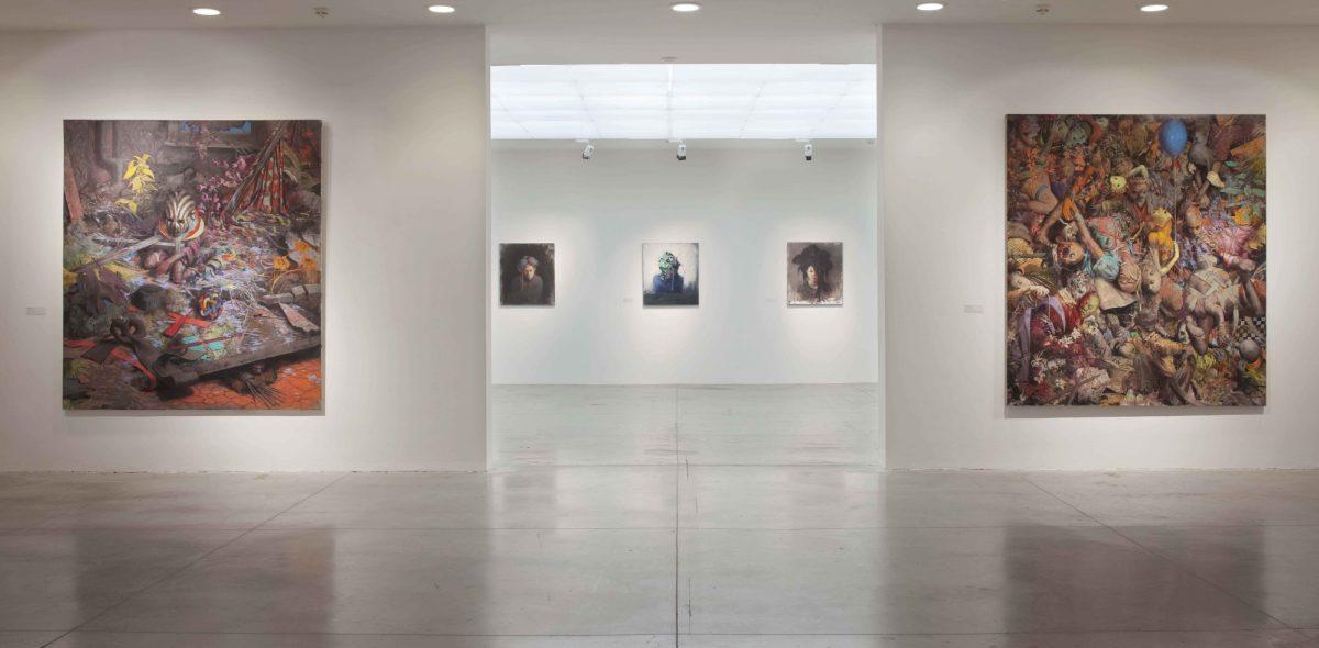 Jonas Burgert Lotsucht Scandagliodipendenza Installation View 2016 Mambo Italy It 1