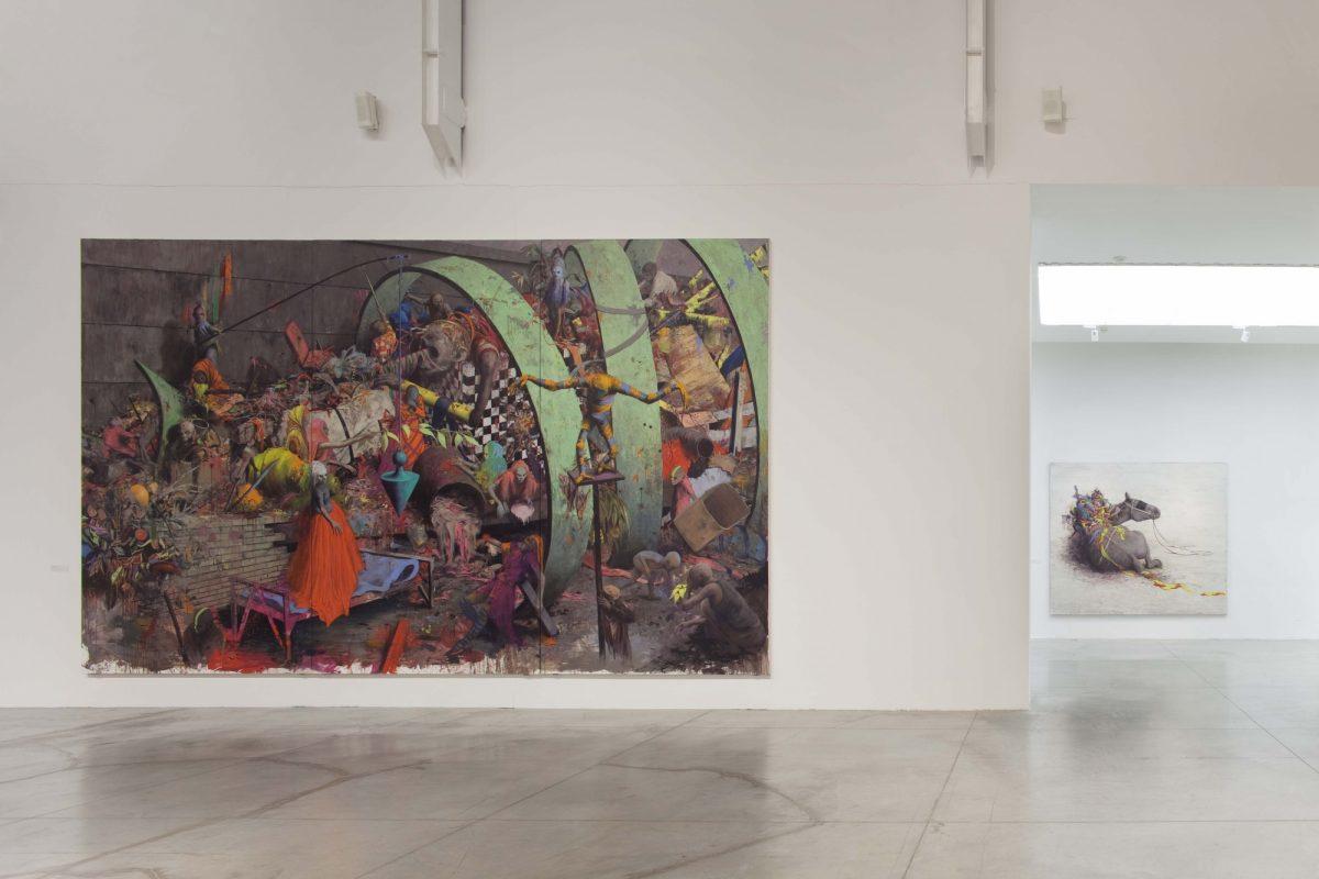 Jonas Burgert Lotsucht Scandagliodipendenza Installation View 2016 Mambo Italy It 7