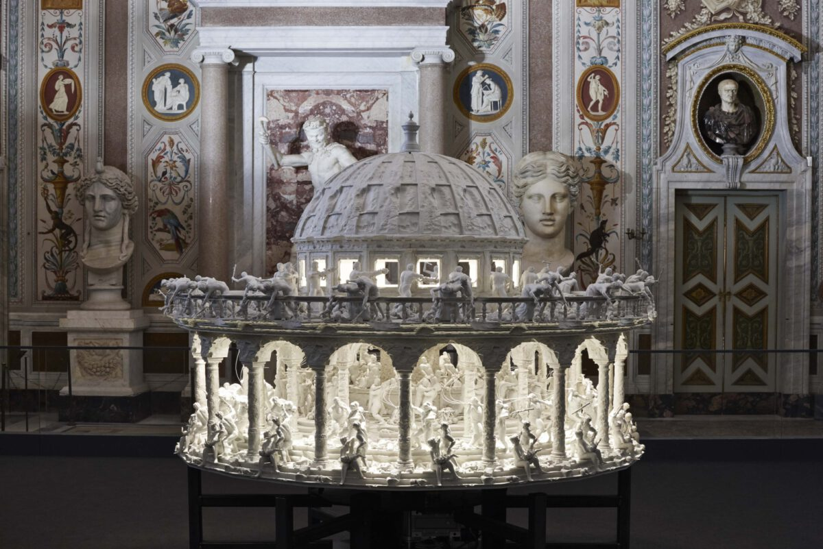Mat Collishaw Black Mirror 2014 Installation View Villa Borghese Photo Andrea Simi 2