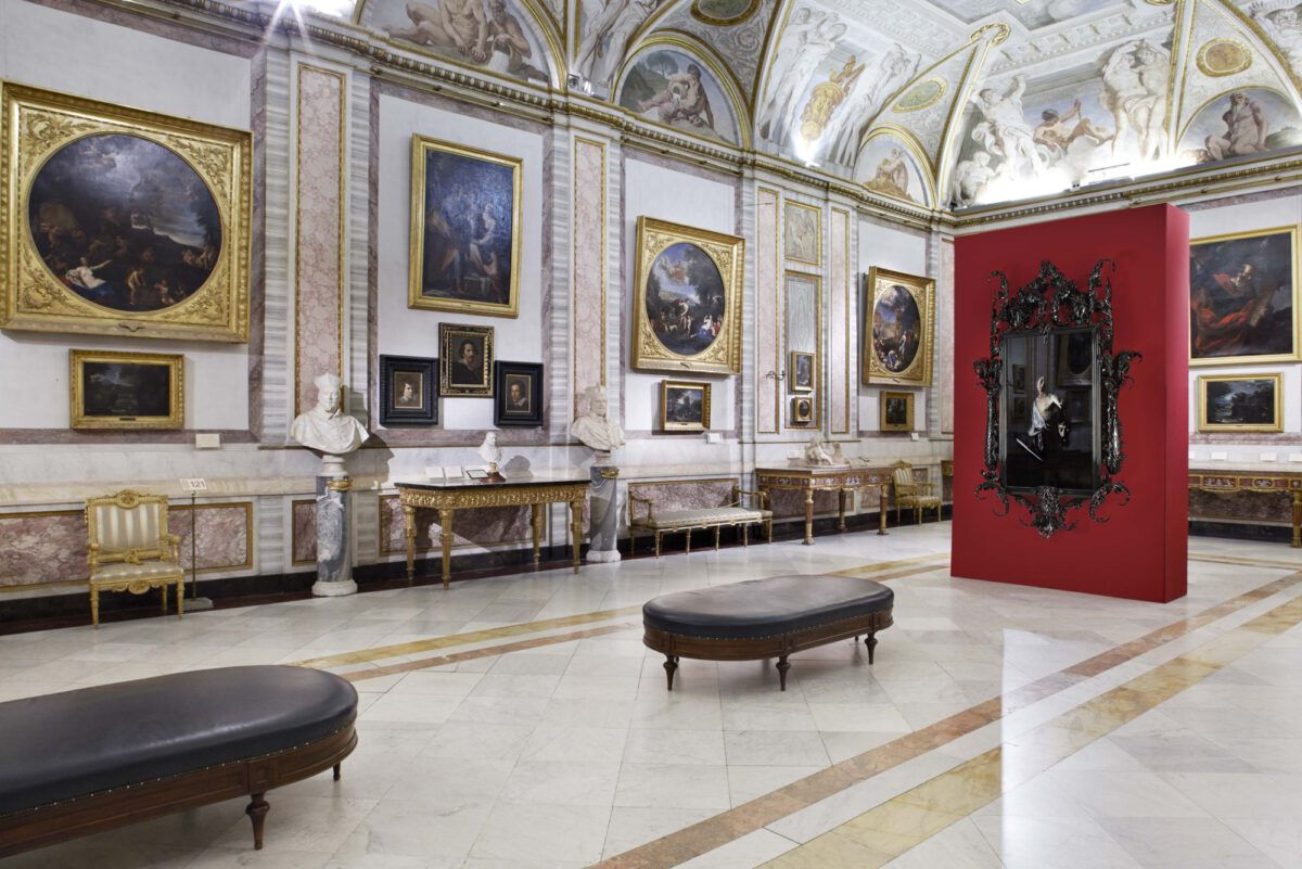 Mat Collishaw Black Mirror 2014 Installation View Villa Borghese Photo Andrea Simi 3