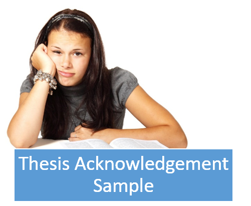 Thesis order acknowledgements