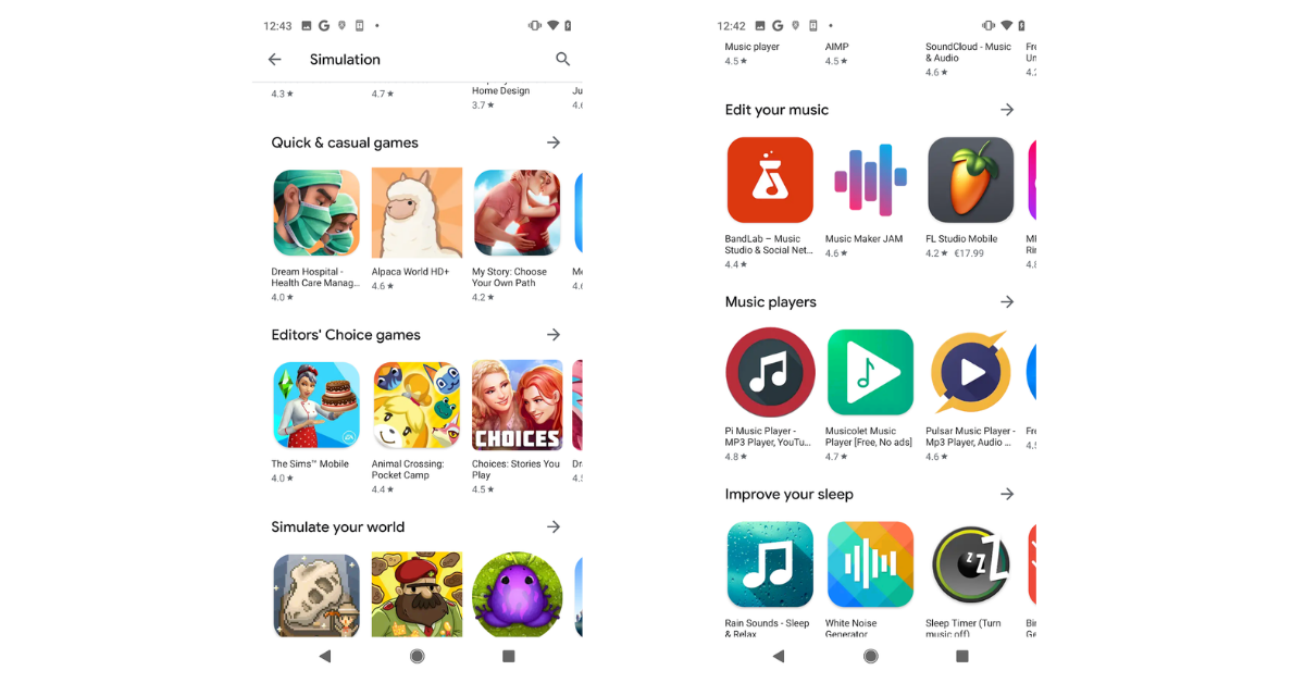 new google play store design