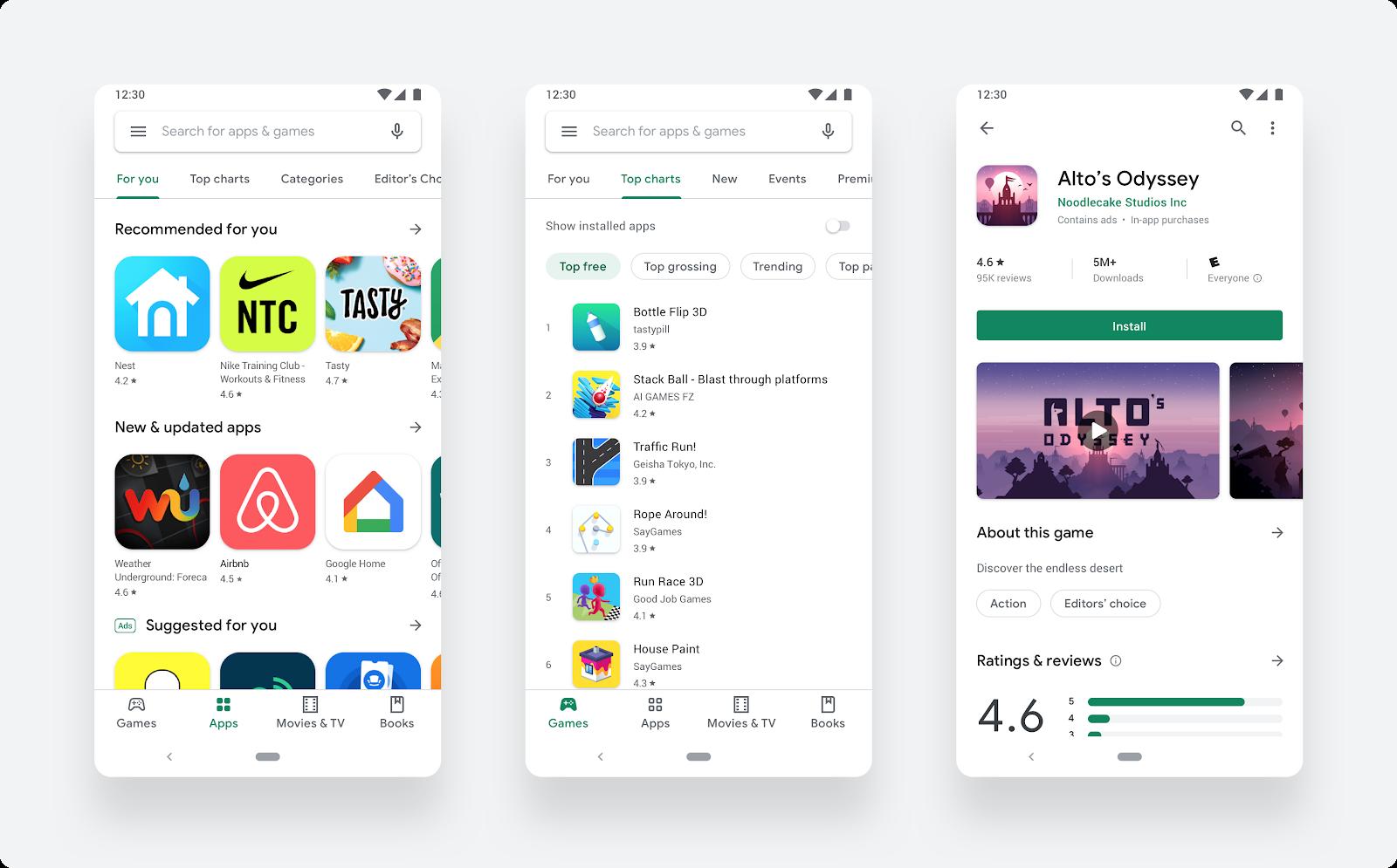 new google play store design