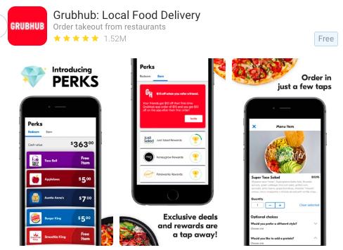 Grubhub Page View - AppTweak ASO Tool