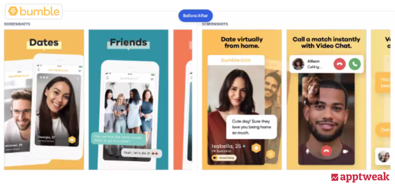 Social distancing guidelines reflected in app creatives