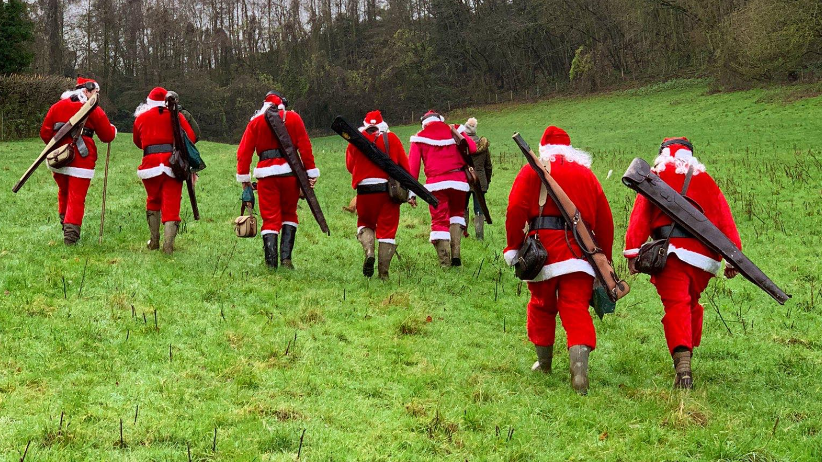 Santa's on the pull at EJ Churchill shooting ground