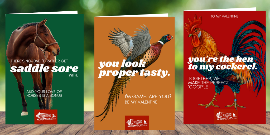 Muddy Valentine's card collection takes a playful look at country love