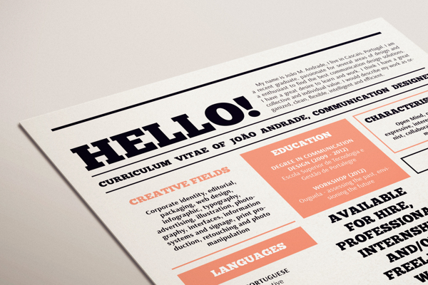 15 Minimalistic Resume Designs For Your Inspiration Sidekick By