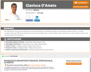 Esempio profilo ShapeMe Gianluca D'Amato