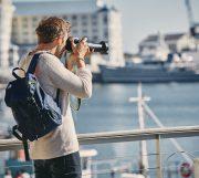 Reiseobjektiv in Aktion
