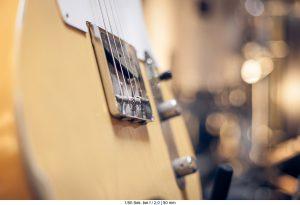 Blende und Tiefenschärfe Gitarre