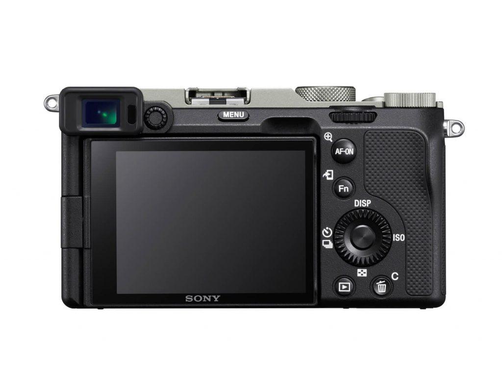 Sony A7C von hinten in silber