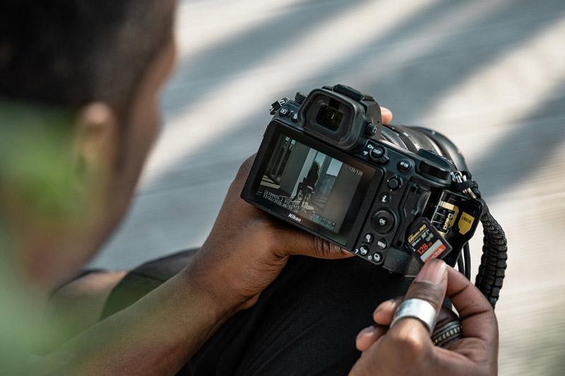 Nikon Z6 ii mit zwei Speicherkartenslots